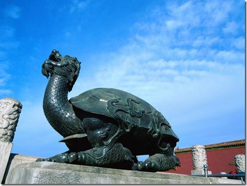 Черепаха с драконьей головой