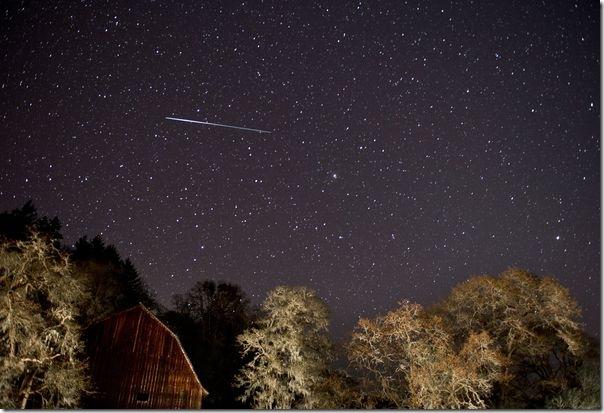 Метеор из потока Лирид. Фото: news.nationalgeographic.com
