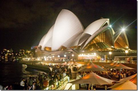 Всемирно известный Сиднейский оперный театр.