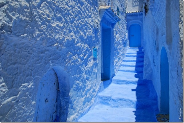Сингий город Шефшауэн, Марокко. Фото: touristrail.ru