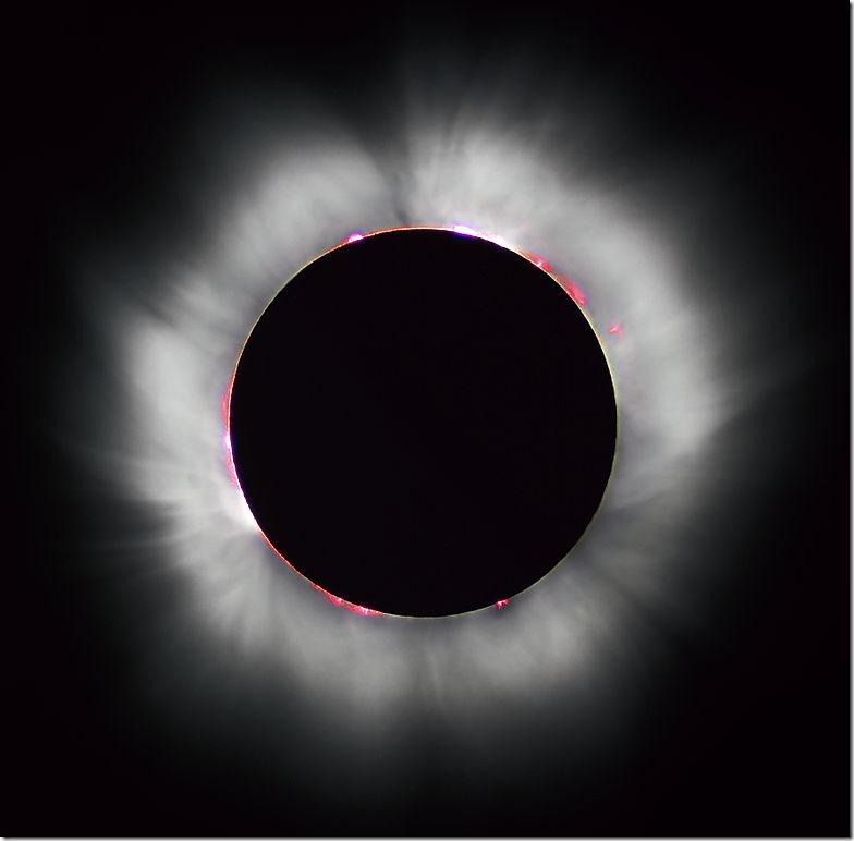 Солнечное затмение 11 августа 1999 года. Фото: Luc Viatour/wikimedia.org