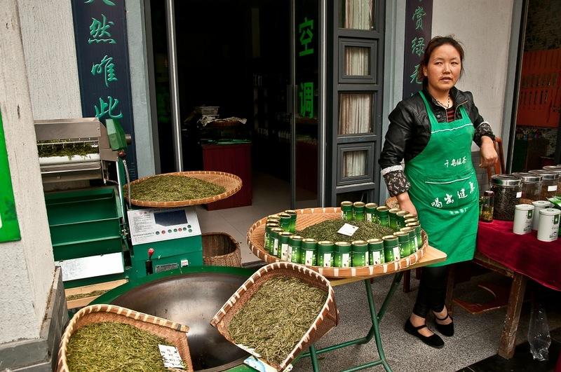 Торговка зеленым чаем