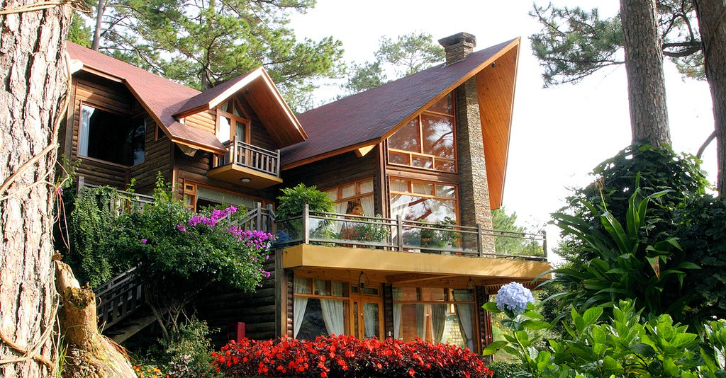 The modern wooden architecture