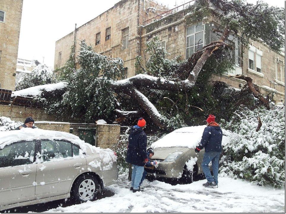 Иерусалим под снегом